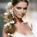 Свадебная прическа коса на бок